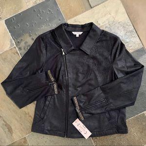Nanette Lepore•NWT•14•Black•Vegan Leather Moto